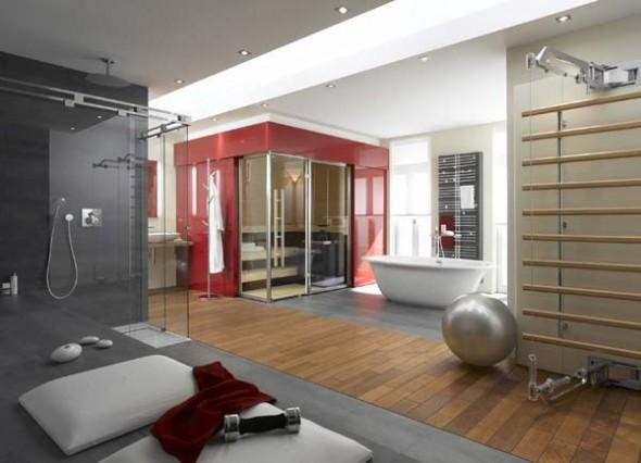 Modern European Bathroom Idea by Finland Sauna