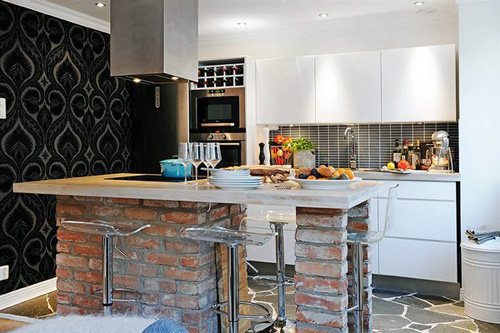 contemporary kitchen small apartment design