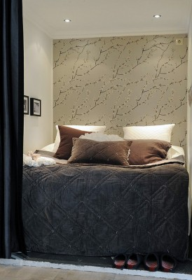 elegant bedroom interior swedish small apartment