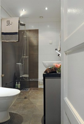 modern bathroom furniture scandinavian apartment