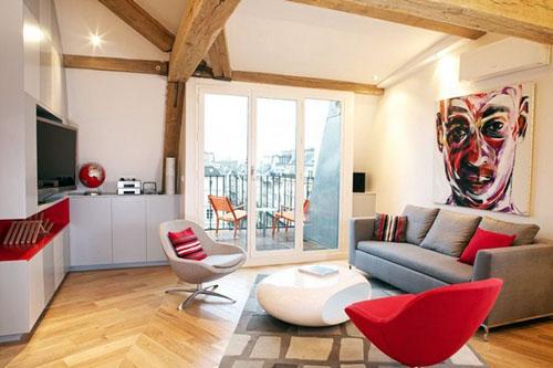 rustic apartment living room