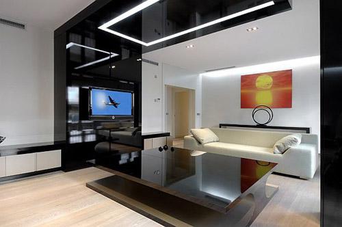 shiny black module gate, A-Cero Apartment