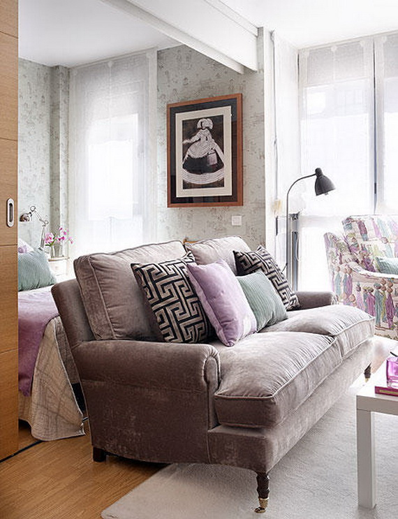comfy living room in 40 Square Meter Apartment Ideas