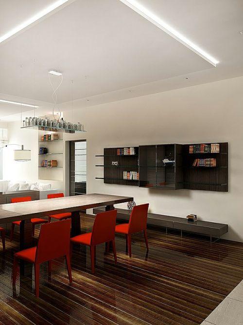 Minimalistic Apartment Design dining room