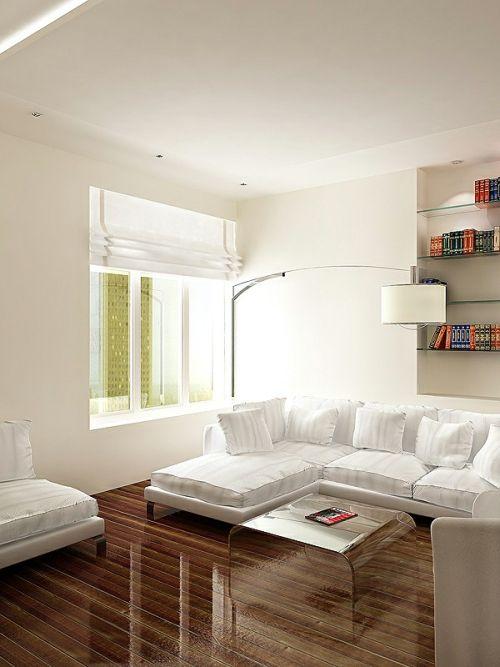 Minimalistic Apartment Design white sofa