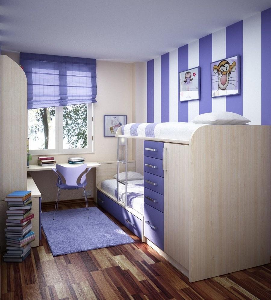 Teen Room-blue bed room