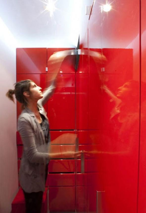 23 Square Meter Apartment in Paris called Red Nest Apt Interior01