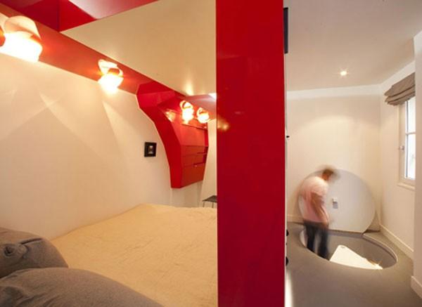 23 Square Meter Apartment in Paris called Red Nest Apt Interior07