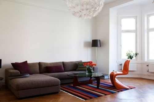 Classically Apartment With Orange Chairs