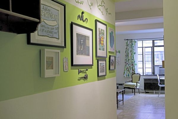 Green Theme NY Apartment Interior04 Pictures