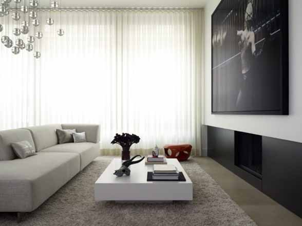Modern Flat Apartment Interior Design by West Chin Architect