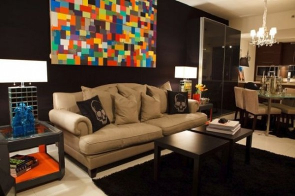 The high rise apartment in Miami, living room