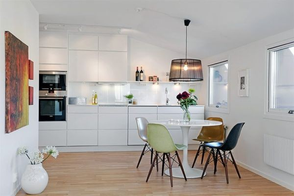 White Apartments in Sweden Interior-dining