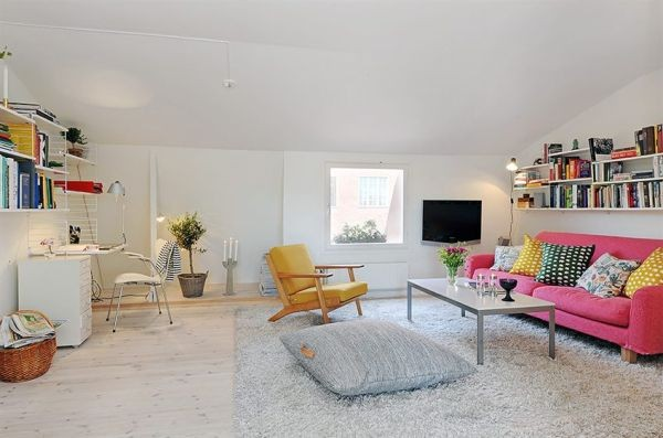 clean swedish apartment-living