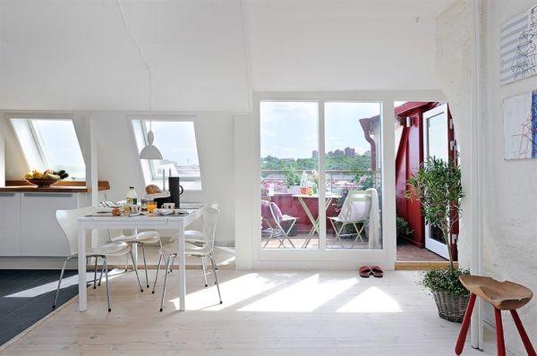 clean swedish apartment-room