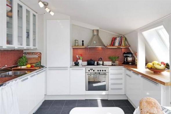 clean swedish apartment-kitchen
