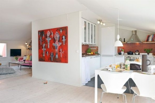 clean swedish apartment-white