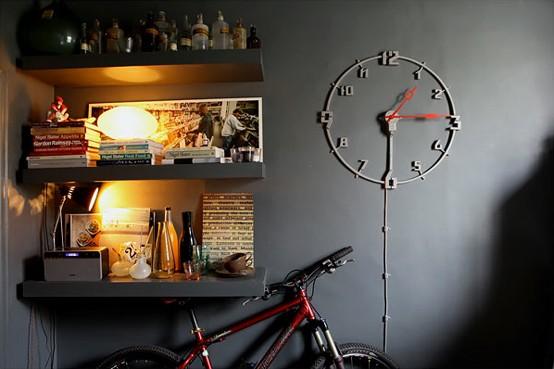dark and moody apartment Interior-nine