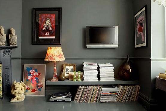 dark and moody apartment Interior-four