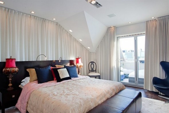 Contemporary bedroom Apartment budha accents