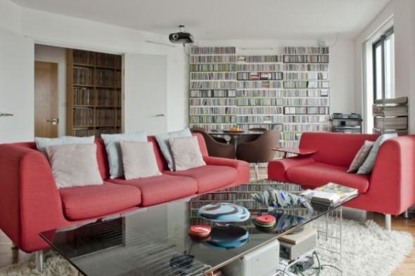 Modern Living room London Penthouse