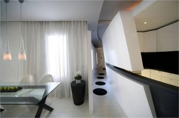 futuristic apartment