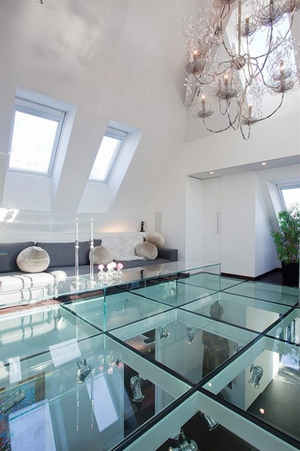 glass floor Apartment budha accents
