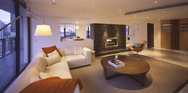 modern apartment melbourne living room