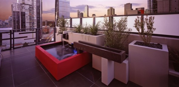 modern apartment melbourne pool