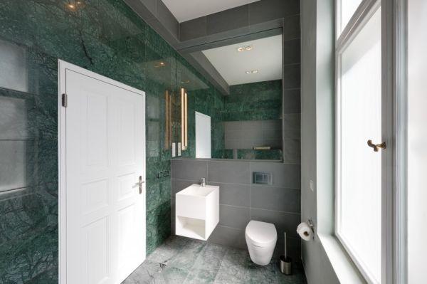 white bathroom Wilhelminian Apartment Berlin