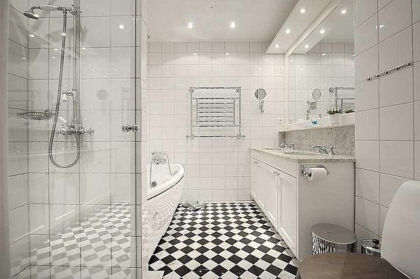 Beautiful bathroom Traditional Swedish Apartment