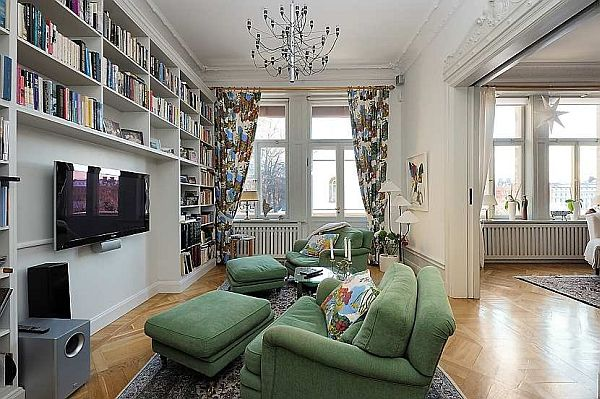 Beautiful family room Traditional Swedish Apartment
