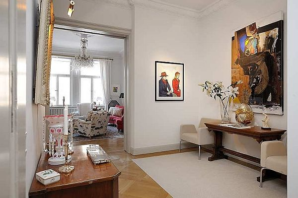 Beautiful living furniture Traditional Swedish Apartment