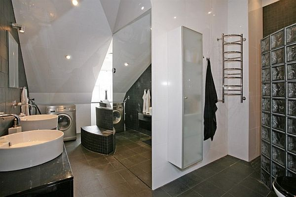 bathroom Penthouse Apartment in Stockholm