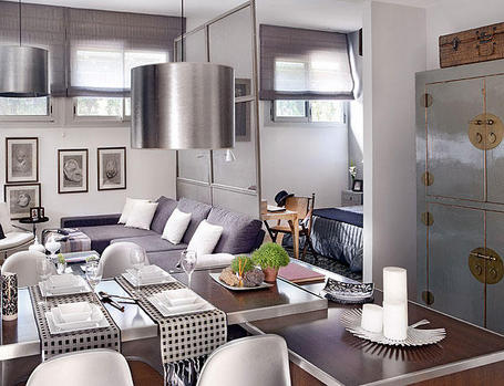 dining living room 48 square meter apartment
