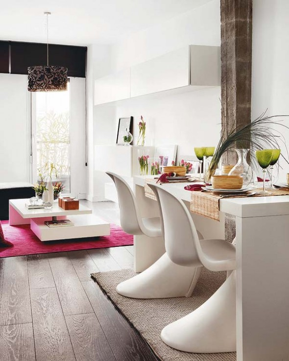 dinner table Duplex Apartment in Central Madrid