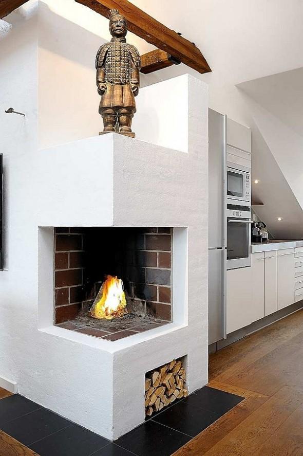 fireplace Finest loft in Birka Town