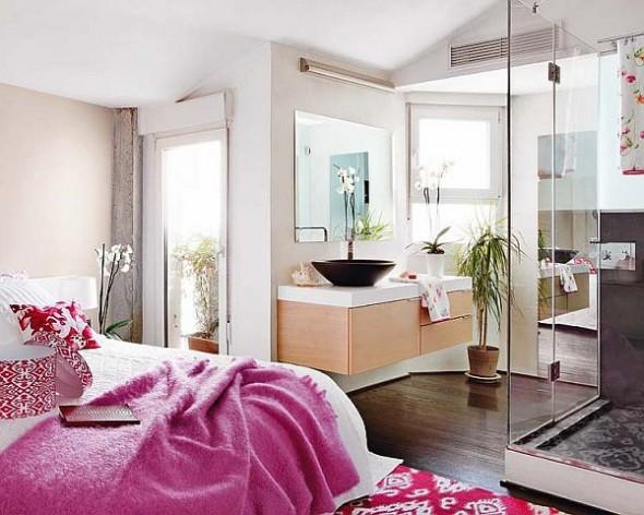 master bedroom Duplex Apartment in Central Madrid
