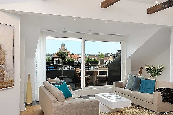 sofa Finest loft in Birka Town windows