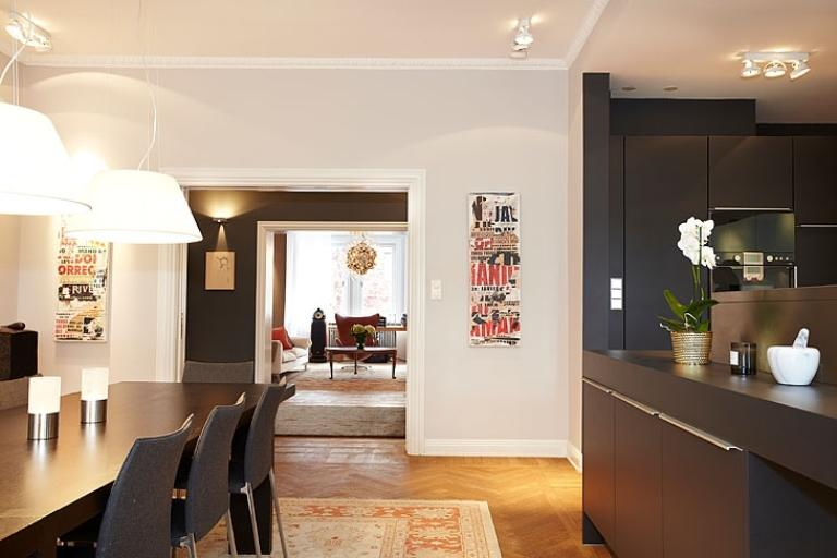 Apartment Design In Chocolate Shades Decorating-dining room