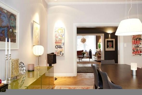 Apartment Design In Chocolate Shades Decorating-diningroom furniture