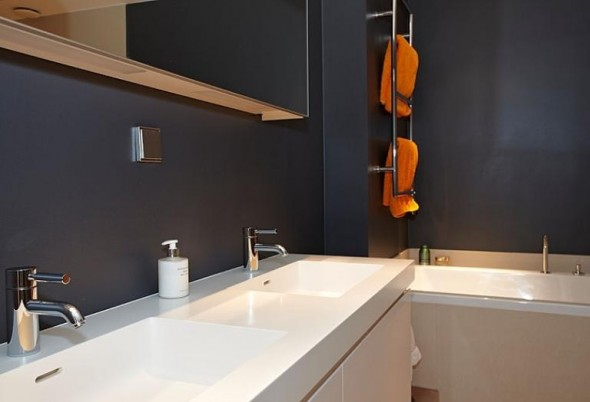 Apartment Design In Chocolate Shades Decorating-wastafel