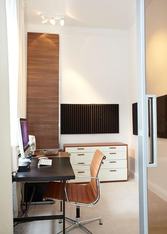 Apartment Design In Chocolate Shades Decorating-work space
