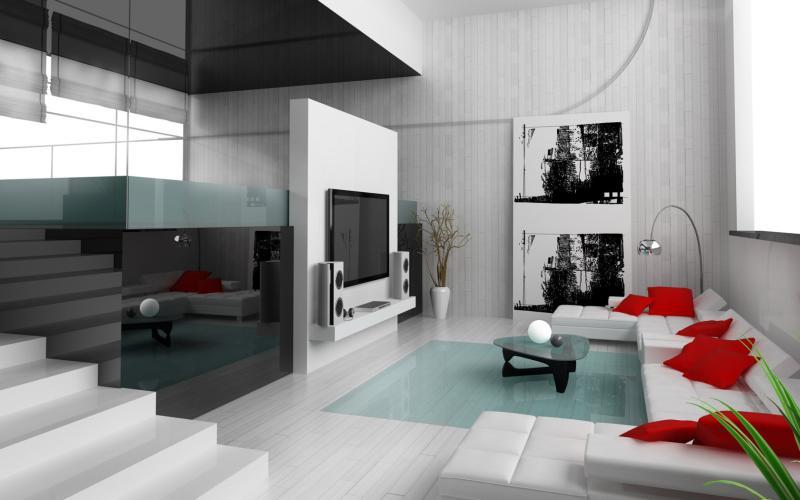 Interior Design of modern apartment living room
