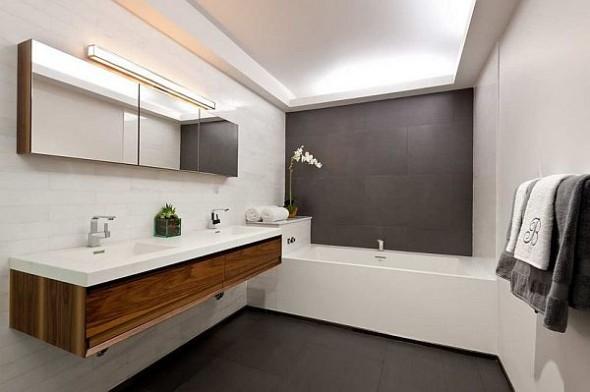 modern manhattan apartment bath