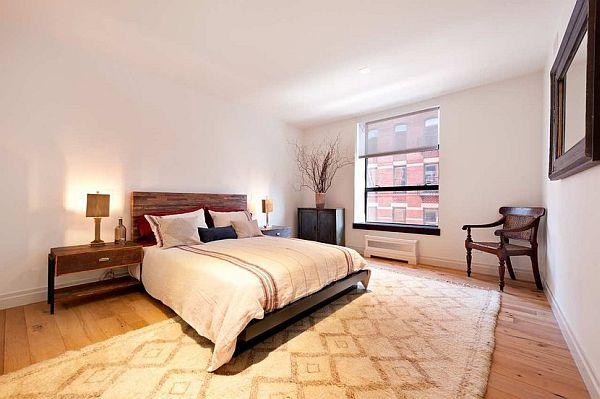 modern manhattan apartment bed