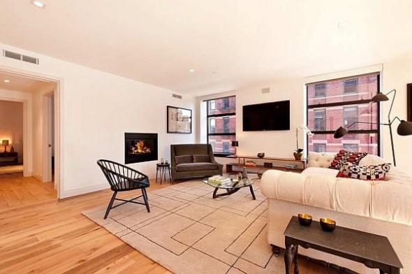 modern manhattan apartment living room