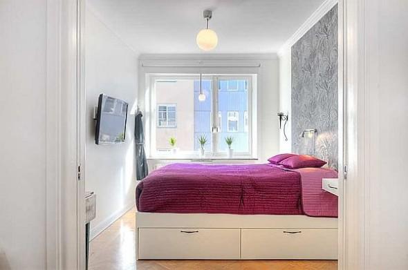 two bedroom apartment bedroom