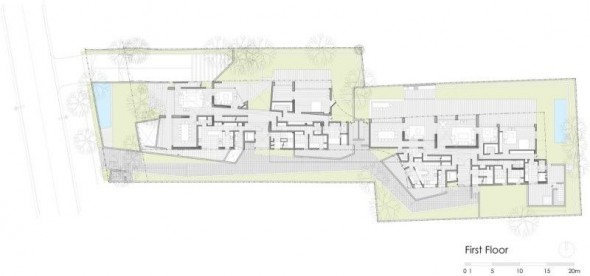 first floor plan - Ignacia Apartments Gonzalo Mardones Viviani Architects