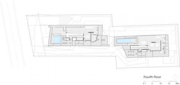fourth floor plan - Ignacia Apartments Gonzalo Mardones Viviani Architects